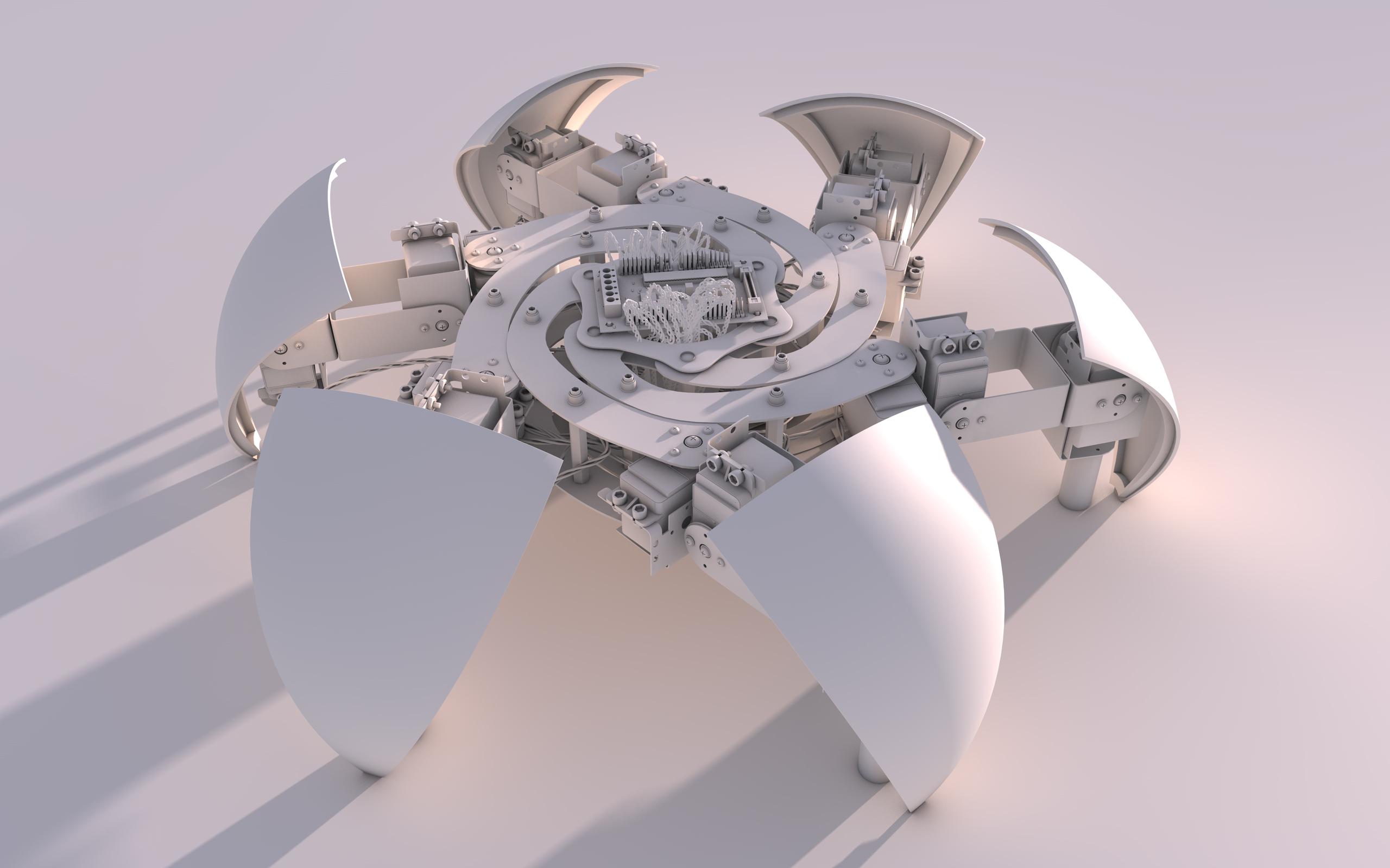 Robot sans texture